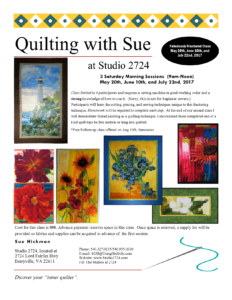 Fabulously Fractured - Quilting with Sue 2017