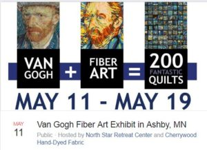 Van Gogh Fiber Art Exhibit Ashby MN 5-11 2018