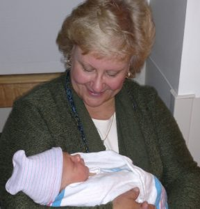 Sue Hickman with her Grandson, Ryker